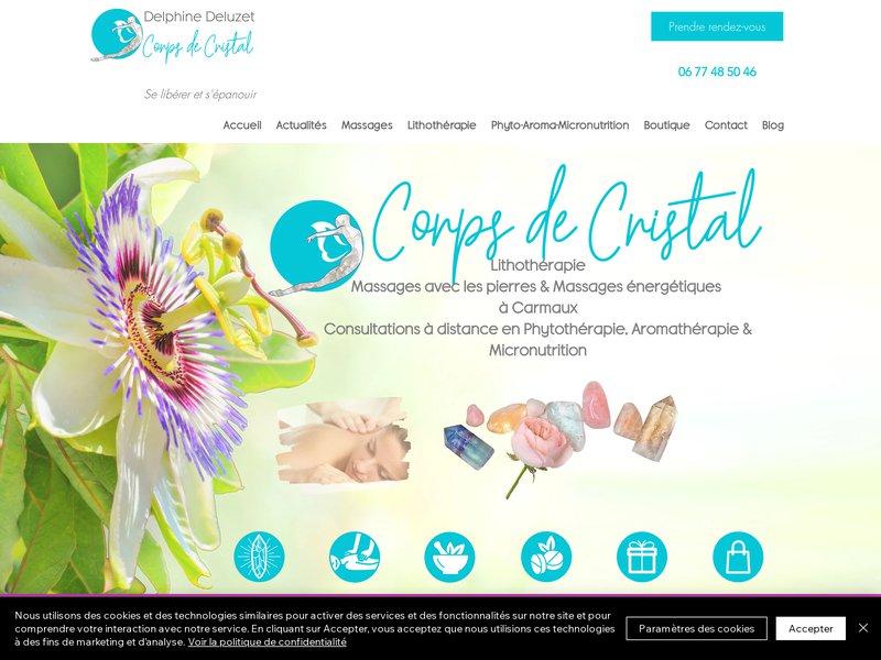 Lithothérapie Massages Delphine Deluzet Corps de Cristal à Albi 81000 et Carmaux 81400