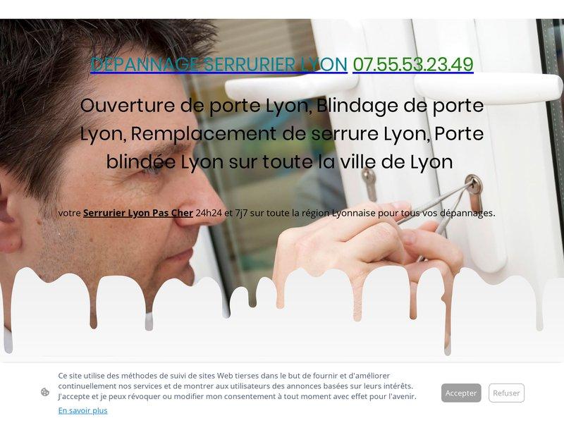 Dépannage Serrurier Lyon - Dépannage 24h24 7j7