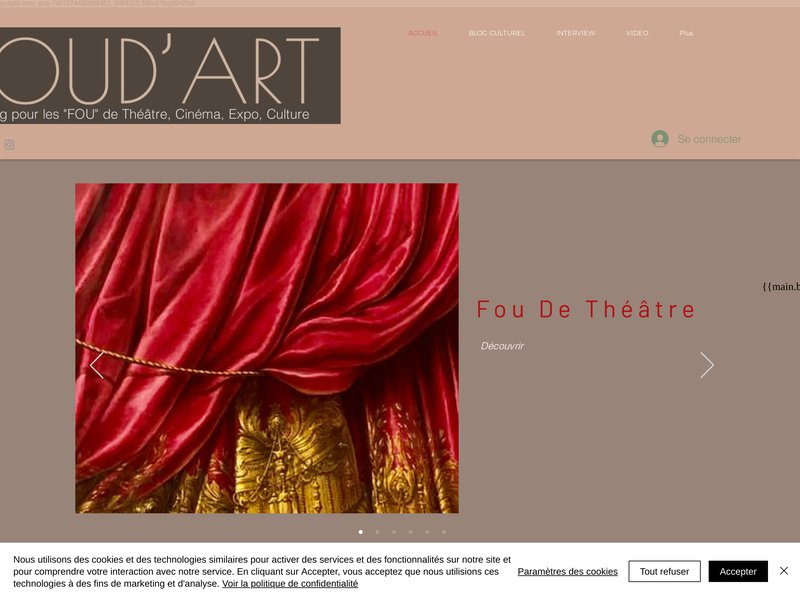 Théâtre - art - film - cinema, blog culturel | FOU DE THEATRE