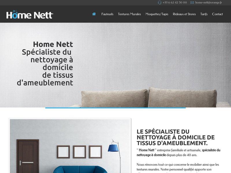 Home Nett, le spécialiste du nettoyage à domicile de tissus d'ameublement.