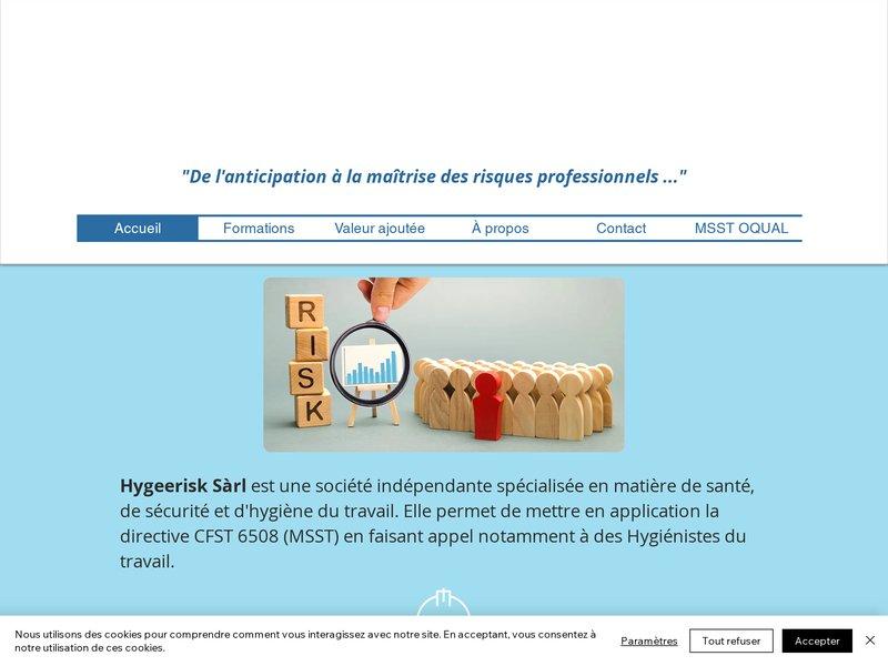 Hygeerisk - Consultant en Santé et Sécurité au travail