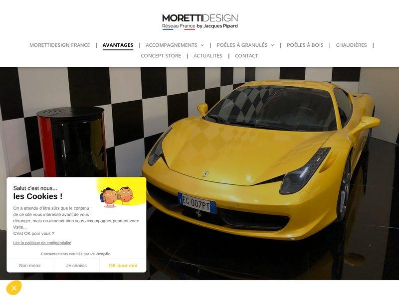 Avantages de devenir revendeur du réseau MORETTIDESIGN France.