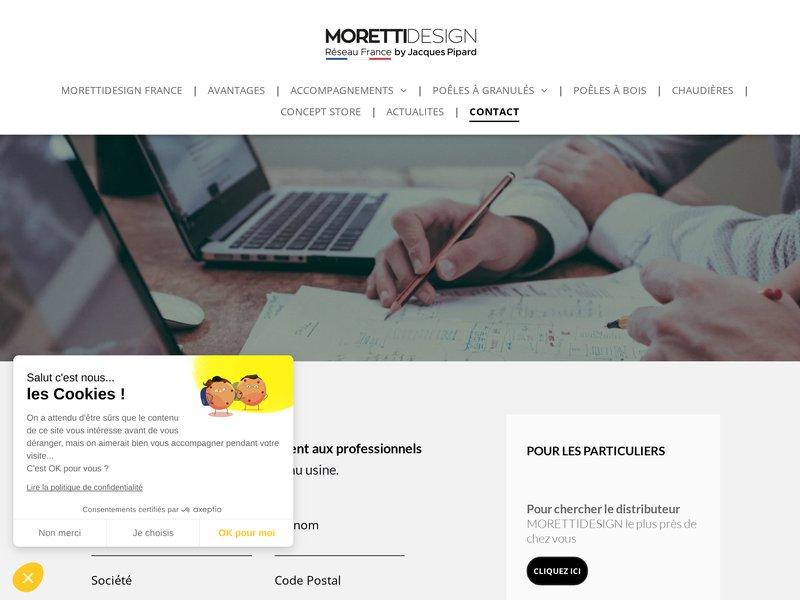 Différents contacts du Réseau MORETTIDESIGN France pour les professionnels et les particuliers.