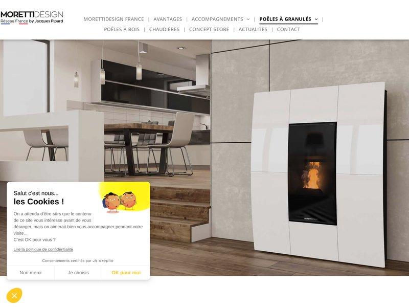 """Gamme """"intelligente"""" Poêles, cheminées, Chaudières du fabricant Italien MORETTIDESIGN."""