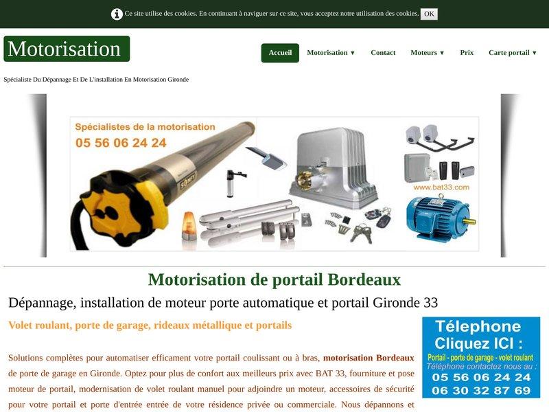 Motorisation de portail Bordeaux (33 Gironde)