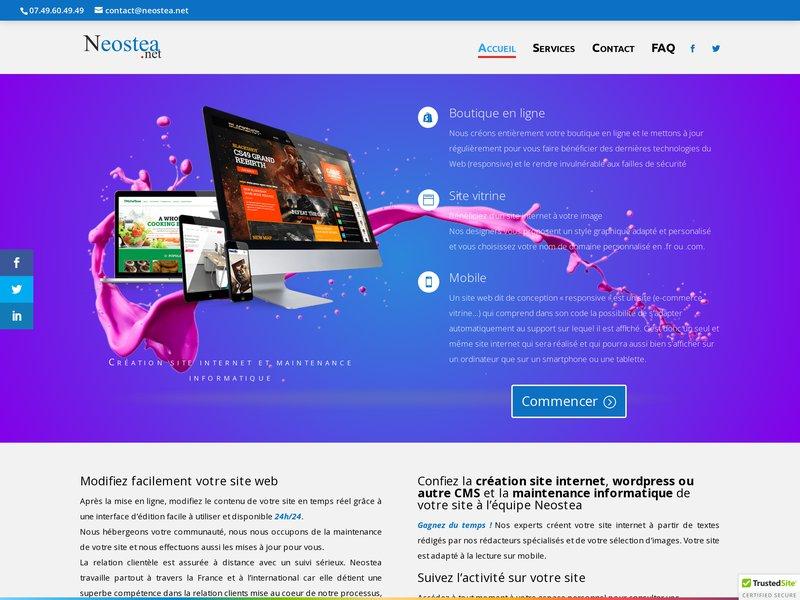 Neostea : Création site internet, boutique en ligne et forum ...