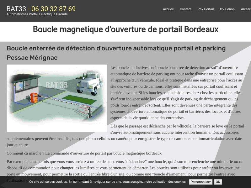 Boucle ouverture de portail Bordeaux