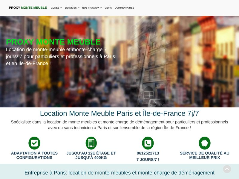 N°1 Location monte meuble à Paris et Île-de-France