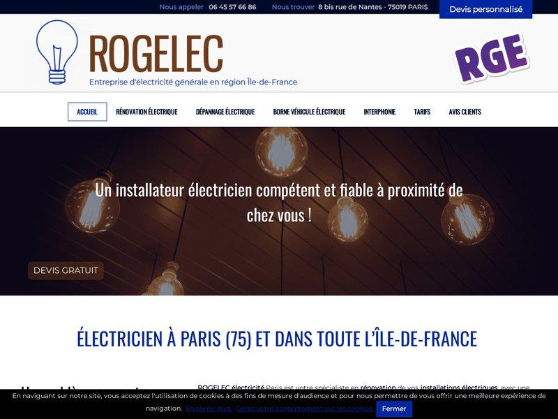 Rogelec électricité Paris 19