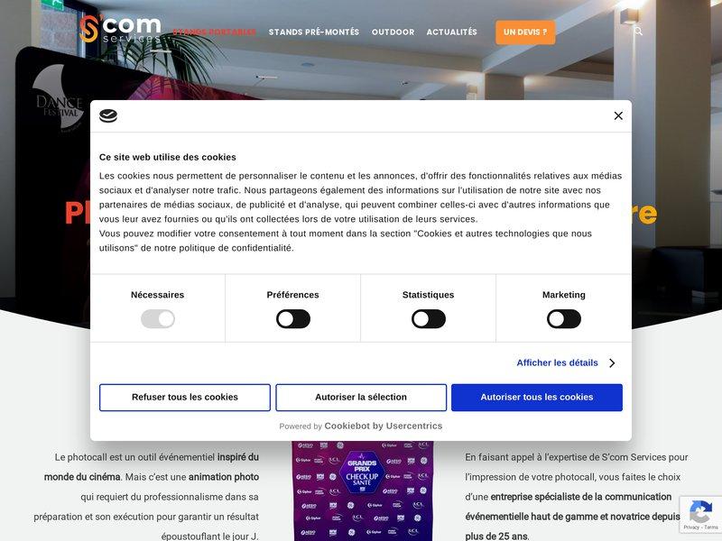 LE STAND PHOTOCALL: C'est un outil marketing portable et mobile simple d'utilisation avec un impact publicitaire irréprochable. Idéal po