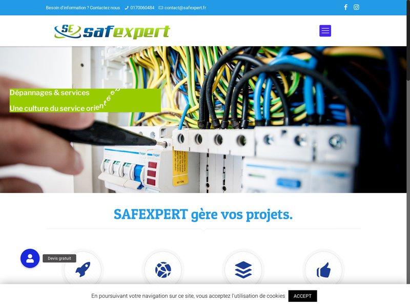 SAFEXPERT électricien courant fort et faible, maintenances et dépannage en électricité générale intrusion, vidéosurveillance, contrôle d'accès...